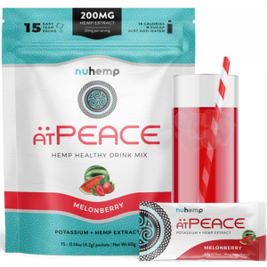 Nuhemp atpeace hemp infused instant drink mix powder mix with water 20mg hemp extract