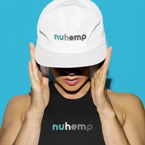Nuhemp White Cap Hat embriodered logo