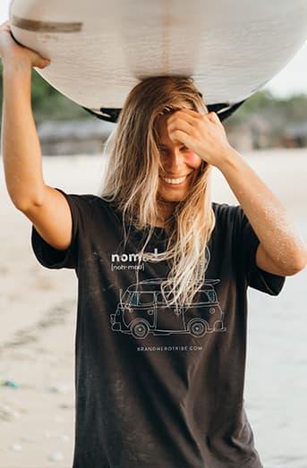 Nuhemp Brand Hero Surf Nomad Tshirt vanlife