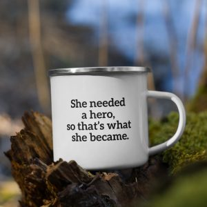 Nuhemp Brand Hero Enamel Camping coffee mug