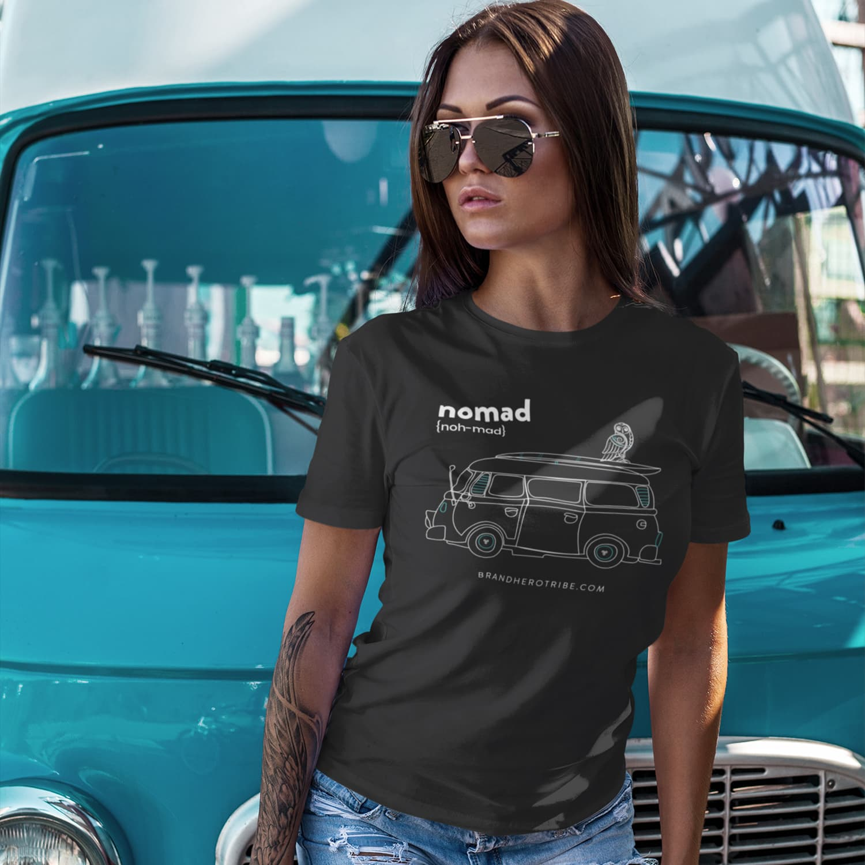 nuhemp vanlife tshirt nomad brand hero affiliate marketing