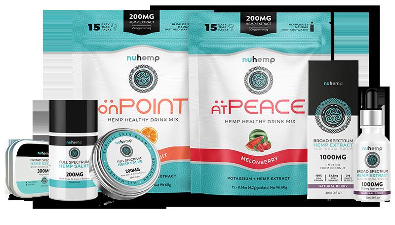 Experience all the Nuhemp Hemp Infused product line