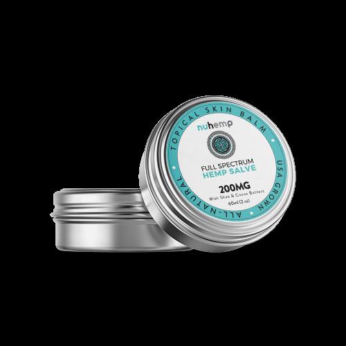Nuhemp hemp infused salve balm 2ox tin lotion