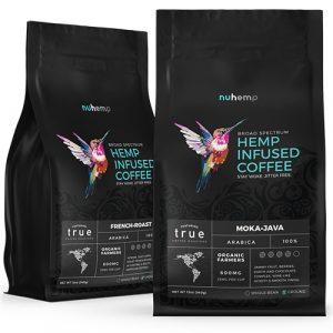 Nuhemp-true-coffee-roasters-hemp-infused-ground-coffee-in-moka mocha java-and-French-Roast-flavors