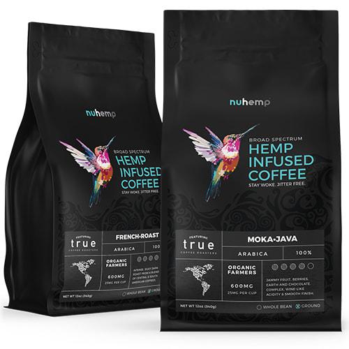 Nuhemp-true-coffee-roasters-hemp-infused-ground-coffee-in-mokajava-and-French-Roast-flavors