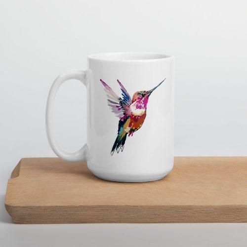 Double Sided Hummingbird Nuhemp Coffee Mug